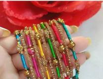 Silk thread bangle designs for girls
